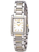 Seiko White/Silver/Gold Ladies' Metal Band Watch