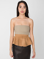 California Select Originals Butterscotch Suede Peplum