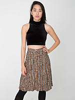 Vintage Tribal Stripe Print Skater Skirt