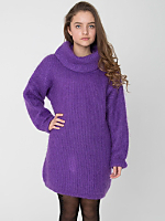 Vintage Purple Mohair Turtleneck Sweater Dress