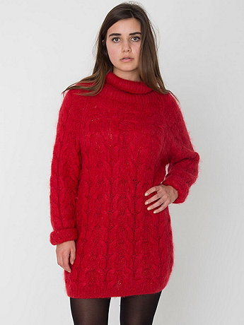 Vintage Mohair Turtleneck Sweater Dress
