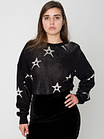 Vintage Cropped Star Print Sweater
