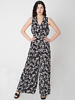 Vintage Floral Sleeveless Wide Leg Jumpsuit