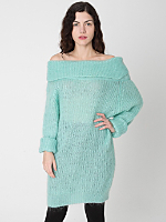 Vintage Off-the-Shoulder Mohair Sweater Dress