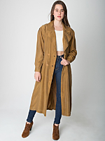Vintage Double-Breasted Silk Trench Coat