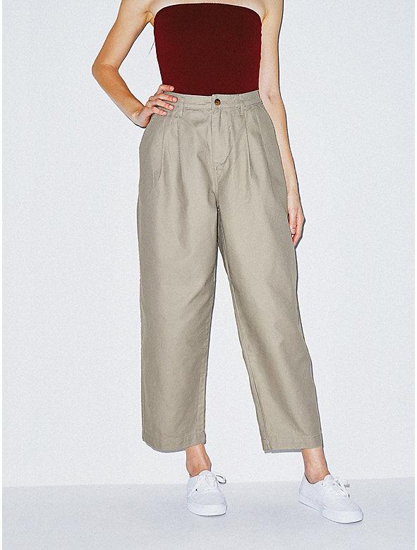 Twill Pleated Pant