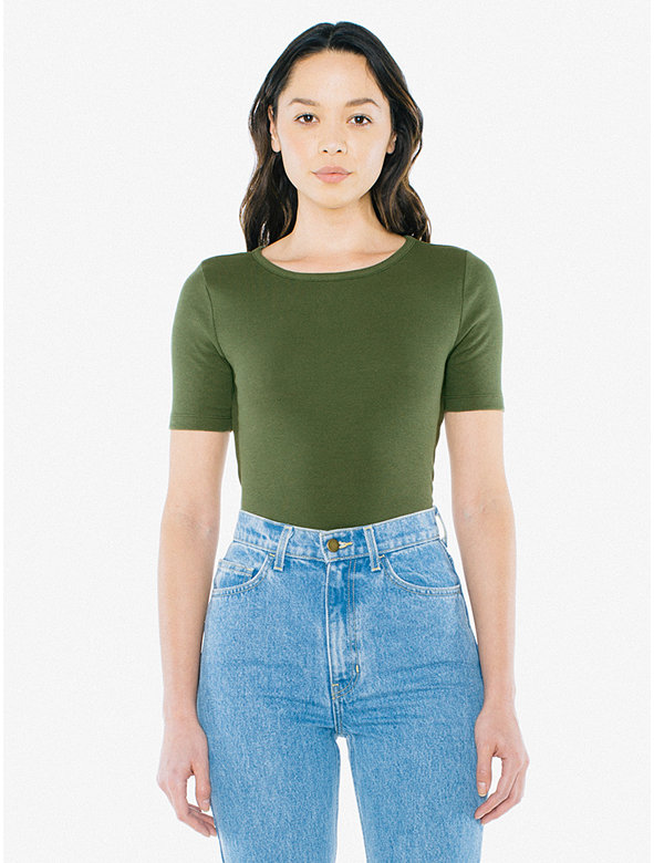 Ribbed Fitted T-Shirt