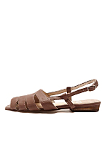 Leather Cut-Out Sling Back Sandal