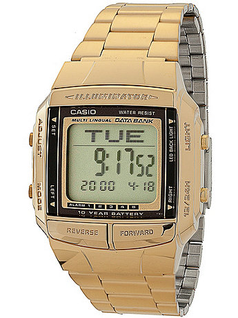 DB360G-1D Casio Gold & Black Digital Watch