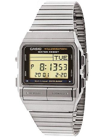 DB380-1D Casio Silver & Black Digital Watch