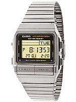 DB380-1D Casio Silver & Black Digital Watch