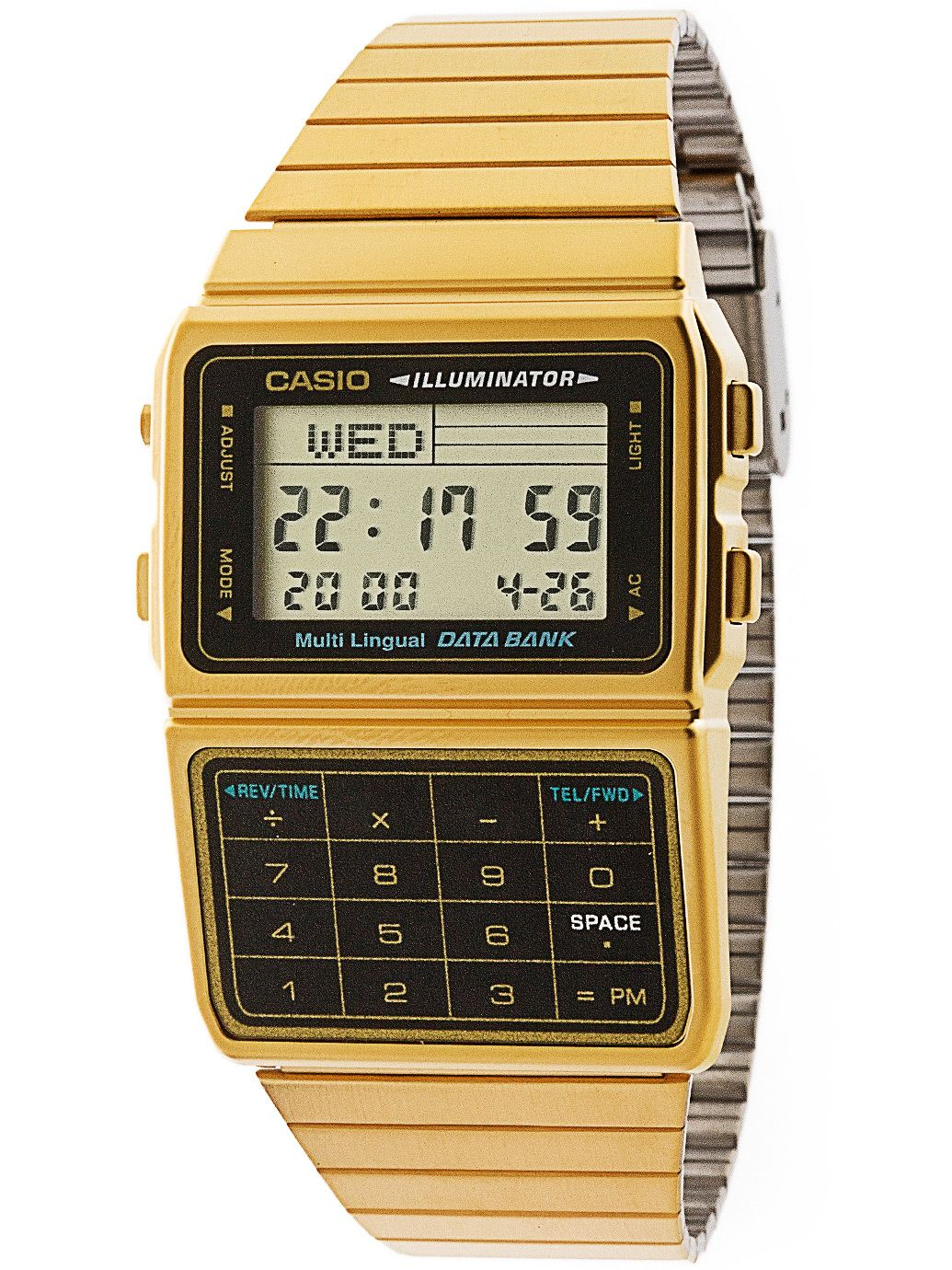 dbc611g 1d casio gold black digital american apparel