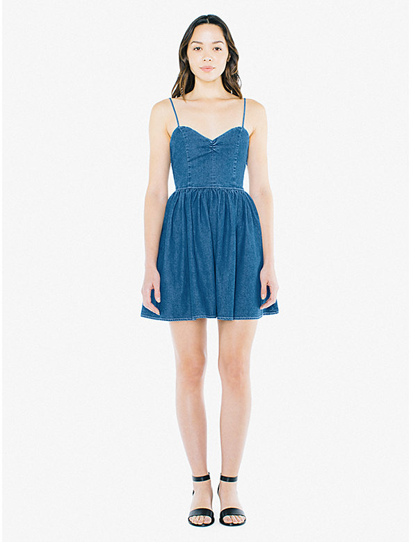 Denim Lace Back Dress