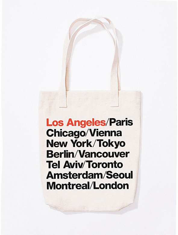 Los Angeles Cities Print Bull Denim Tote