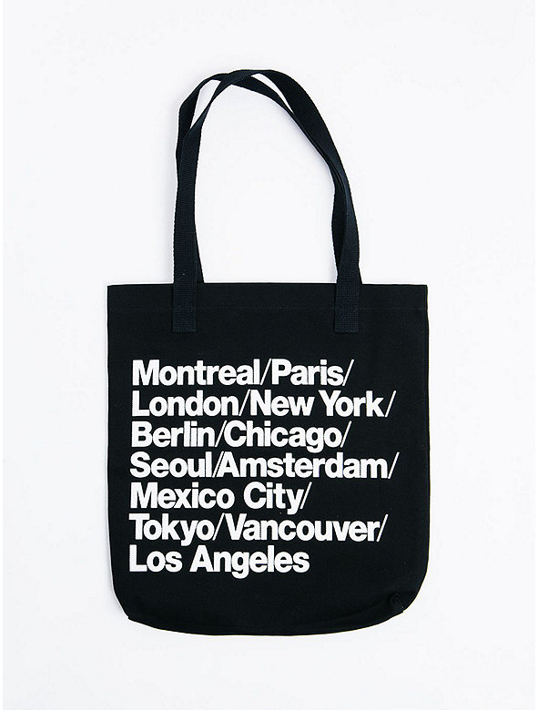 Cities Print Denim Tote
