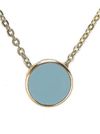 Baby Blue Circle Necklace