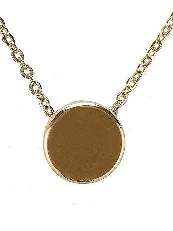 Butterscotch Circle Necklace
