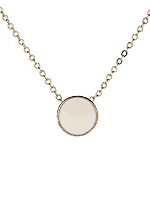 Creme Circle Necklace