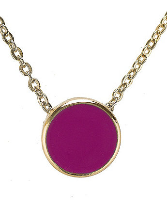 Fuchsia Circle Necklace