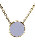 Lilac Circle Necklace