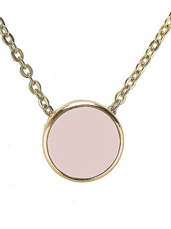Light Pink Circle Necklace