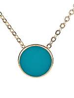 Mint Circle Necklace