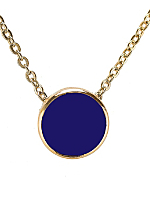 Navy Circle Necklace