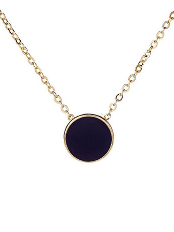 Small Black Circle Necklace