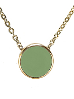 Spring Green Circle Necklace