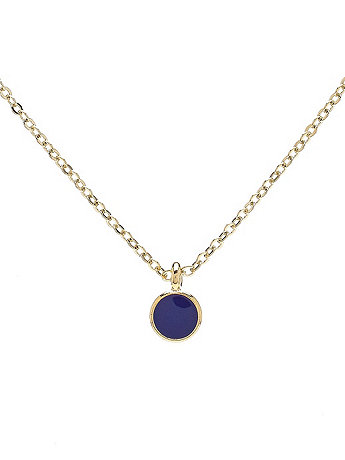 Small Navy Circle Necklace