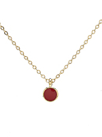 Small Red Circle Necklace