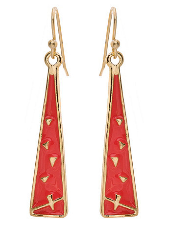 Coral Triangle Drop Earrings