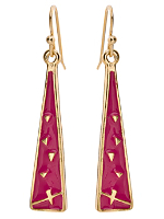 Fuchsia Triangle Drop Earrings