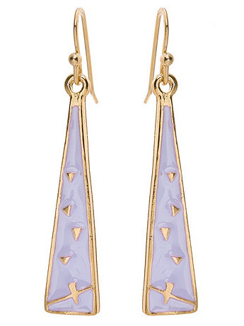 Lilac Triangle Drop Earrings