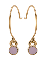Lilac Round Half Hoop Wire Earrings
