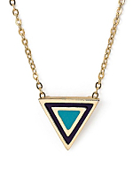 Mint Enamel Triangle Necklace