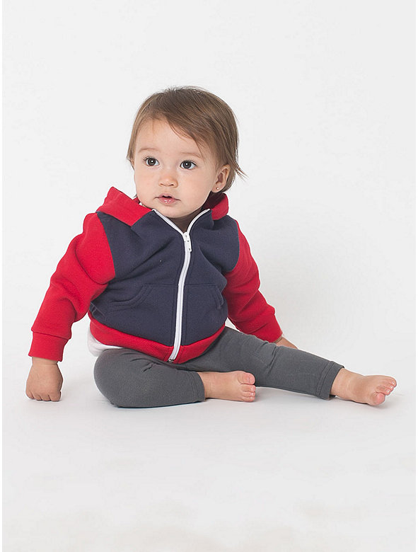 Color Block Infant Flex Fleece Zip Hoodie