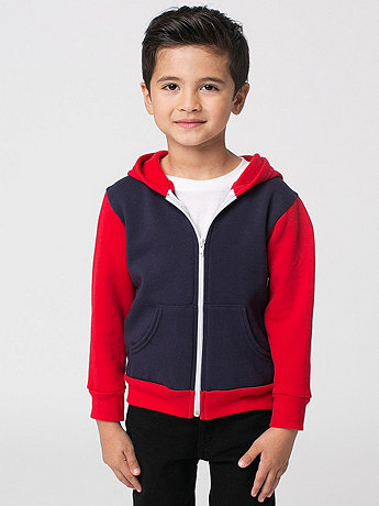 Color Block Kids Flex Fleece Zip Hoodie
