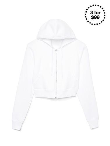 Cropped Flex Fleece Zip Hoodie