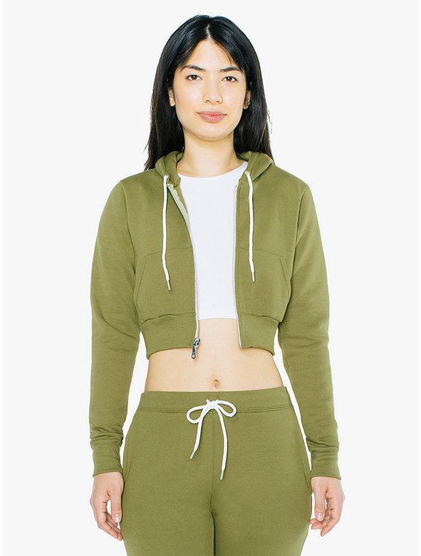 Flex Fleece Cropped Zip Hoodie