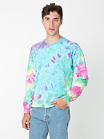Tie Dye Fleece Crewneck Pullover Drop Shoulder Sweatshirt