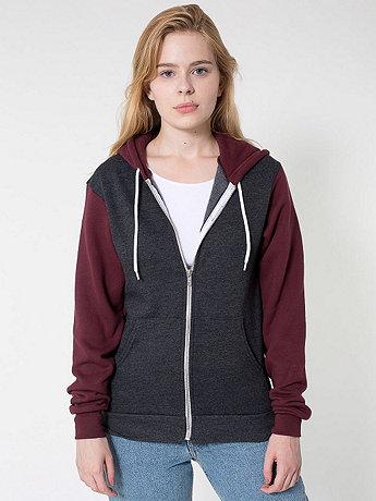 Unisex Flex Fleece Two-Tone Zip Hoodie