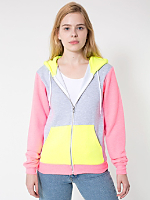 Unisex Flex Fleece Color Block Zip Hoodie