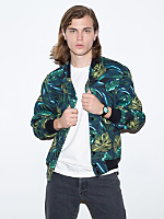 Jungle Leaves Printed Flex Fleece Club Jacket