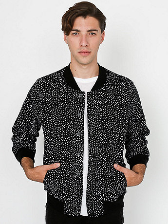 Polka Dot Printed Flex Fleece Club Jacket