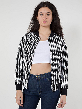 Unisex Houndstooth Flex Fleece Club Jacket