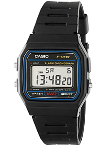 F91W-1 Casio Resin Digital Watch