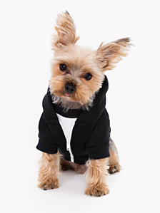 Black Flex Fleece Dog Zip Hoodie
