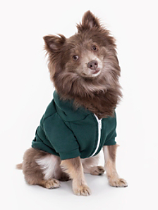 Forest Flex Fleece Dog Zip Hoodie