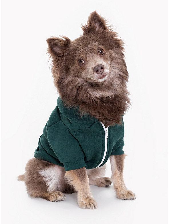 Forest Flex Fleece Dog Zip Hoodie